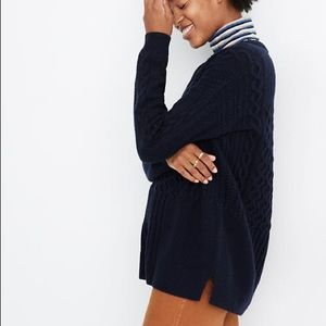 NWT Madewell cableknit sweater M boxy